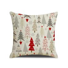 Square Xmas Throw Pillow Cover Christmas Decoration Car Cushion Case for Sofa Bedroom Custom
