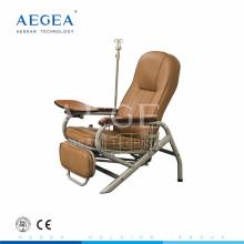 Cama plegable de la silla de la infusión de lujo del PVC del acero revestido del polvo AG-AC006
