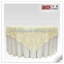 Hot selling design direct factory made wholesale custom rosette wedding table cloth