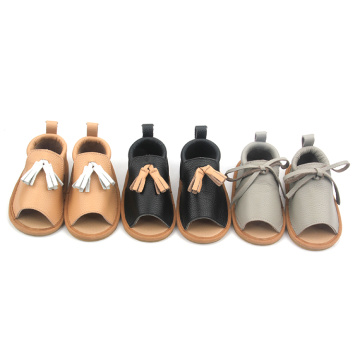 Läder Soft Sole Baby Girl Sandals Shoe