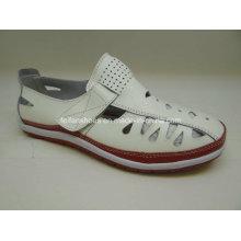 Lates sapatos de couro de lazer feminino sapatos de couro casual (fs003)