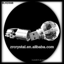 bola forma cristal USB flash dirve