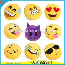 Hot Selling Alta Calidad Novedad Diseño Emoji Plush Pillow