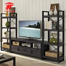 Ensemble de télévision modulaire en bois moderne