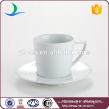 Classical porcelain ceramic cup with saucer holder