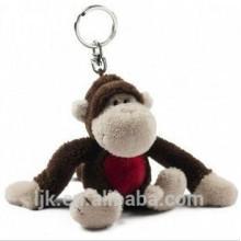 Kundenspezifischer Entwurfs-Plüsch-Affe keychain