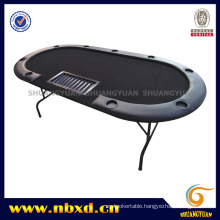84inch 9 Person Poker Table with Folding Iron Leg (SY-T16)