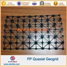 Poliéster Mascota de fibra de vidrio Geobrid Biaxial de plástico