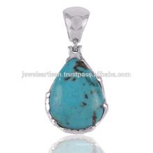 Arizona Turquoise Gemstone 925 Sterling Silver Pendant Jewelry
