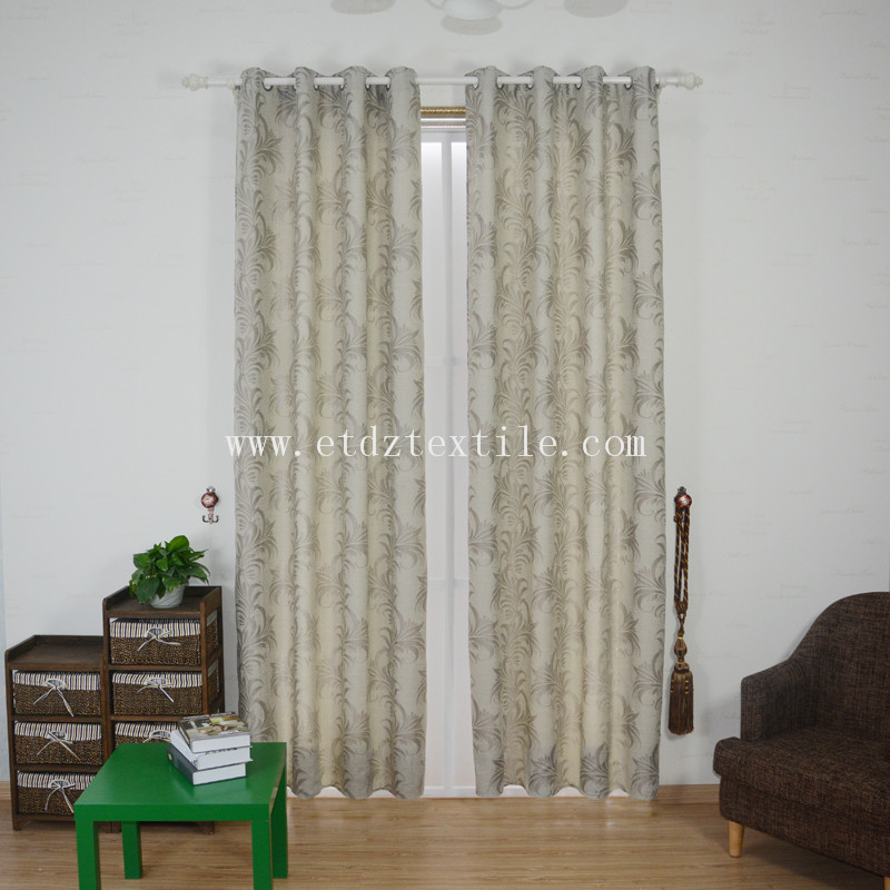 ZYL029 Grey Typical Polyester Slub Yarn Piece Dyed Curtain Fabric