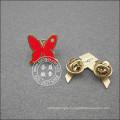 Butterfly Shape Lapel Pin, Enamel Plated Badge (GZHY-LP-049)