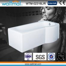 P Форма Акриловая ванна для душа с юбкой (WTM-02316L / R)