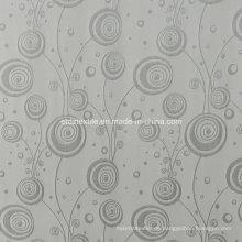 Beliebte graue Farbe Polyester Schrumpfung Garn gefärbten Fenster Vorhang