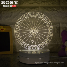 China Wholesale Ferris Wheel 3D LED Lamp Night Light with USB Port