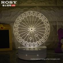 China Wholesale Ferris roda 3D LED Lâmpada luz noturna com porta USB