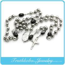 2016 haut de gamme bi-ton et noir collier de chapelet de grosses perles bijoux à vendre