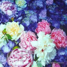 Impressão digital do lenço de seda da flor do OEM e do ODM