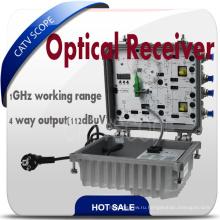 Открытый Smart CATV 4 Way Волоконно-оптический приемник
