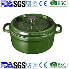 High Capacity 26cm Nonstick Cast Iron French Oven Casserole Dutch Oven BSCI LFGB FDA Approved