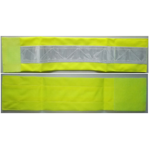 Yellow reflective armband with 3M PVC tape