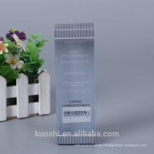 Wholesale Custom Logo Plastic Packaging PP PET PVC Box Mens handkerchiefs Packaging Box Design