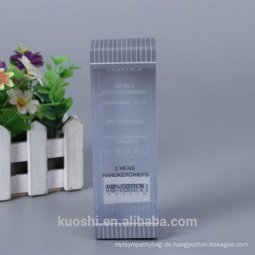 Großhandel Benutzerdefinierte Logo Kunststoff Verpackung PP PET PVC Box Mens Taschentücher Verpackung Box Design