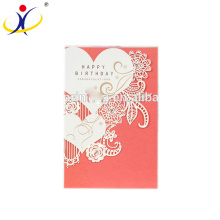 Customized Color!Fancy Wholesale Three Fold Birthday Cards Greeting Cards with Various Designs