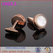 VAGULA haute qualité Or Rose chemise homme poignets boutons de manchettes Gemelos (L51915)