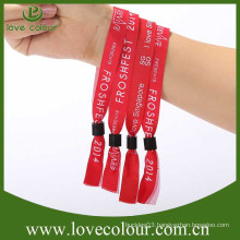 Personalised woven wristbands fabric bracelets for event