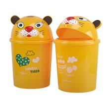 Yellow Cute Flip-on Plastic Dust Bin (A11-4013)
