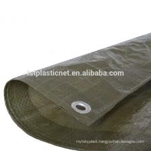 8x 6ft Green Tarpaulin Sheet Garden Furniture Equipment Protection Cover