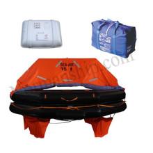 throwing inflatable life raft 15 person life raft solas marine vessel boat liferaft