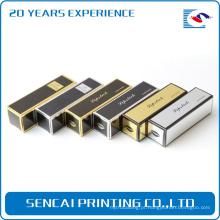Embalagem caixa de papel bonito batom cosmético / hot stamping impressão papel batom caixa de embalagem
