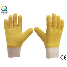 Muñeca de punto, guantes de trabajo de látex completamente recubiertos