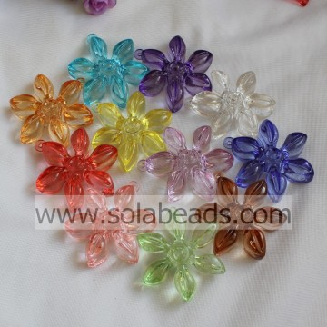 Warm 57MM  Plastic Blossom Beads