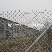 Poids de clôture de lien de chaîne de vinyle noir / clôture en plastique de maillon de chaîne