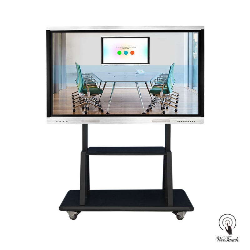 75 Inches All-In-One Multi-touch Display with mobile stand