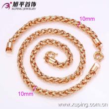 62349-Xuping venta caliente elegante falso collar de joyas de oro y pulsera conjunto