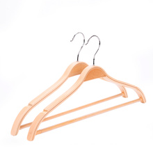 Space saving non-slip zara style laminated wooden clothes hangers for shirt dress