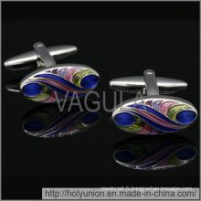 VAGULA manchette métal boutons de manchette ovales (Hlk31726)