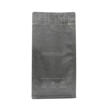 Biologisch afbreekbaar Kraftpapier Ziplock Coffee Flat Bottom Bag