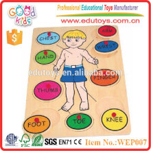 2015 Jouets promotionnels Body Study Toy Wooden Baby Puzzle