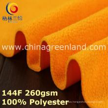Polyester Knitted Polar Fleece Brush Fabric for Coat-Proof Garment (GLLML393)