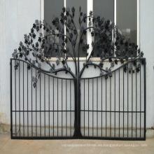 Venta caliente de alta calidad de estilo europeo decoración personalizada yarda chapado puerta de hierro forjado