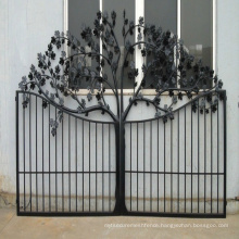 Hot sale high quality European style custom yard decoration plating wrought iron gate