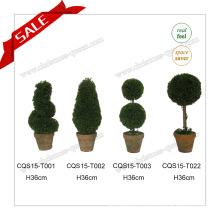 H36cm Indoor&Outdoor Plastic Artificial Plant Christmas Tree