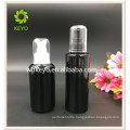 100ml Hot sale make up packing transparent amber colored empty cosmetic glass dropper bottle with pump sprayer