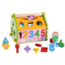 Wooden Shape Sorter Number Recognition Toddler Toy