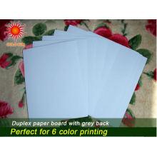 Placa frente e verso impermeável com cinza para imprimir