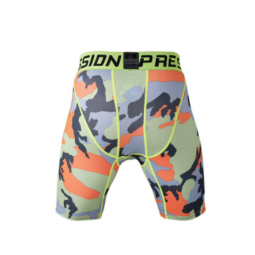 shorts de gymnastique Mens camo modèle sublimation compression